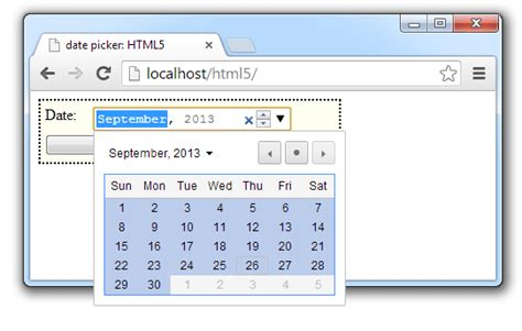 date time input type html5