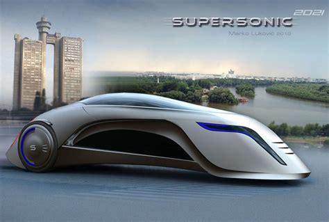 Supersonic Futuristic Car By Marko Lukovic Tuvie