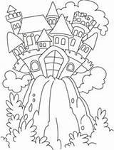 Coloring Pages Castle Fairy Tale Clipart Colouring Inspirational Hill Sheets Print Drawings Knight Princess Knights sketch template