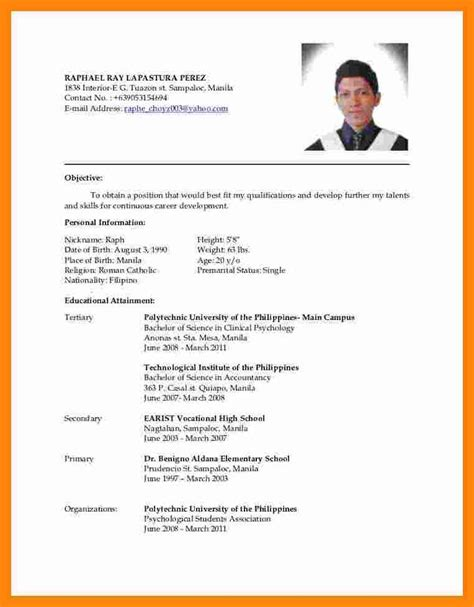 8 format of cv reporter resume