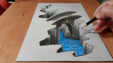 illustration drawing   bridge trick art youtube