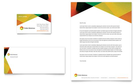 public relations company business card letterhead