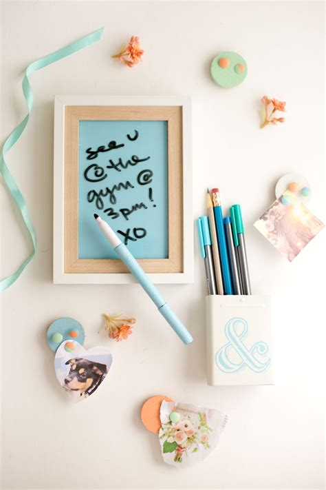 Diy Locker Decorations Dry Erase Board + Pencil Cup  Flax & Twine