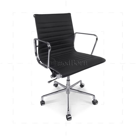 ea117 eames style office chair low back ribbed black