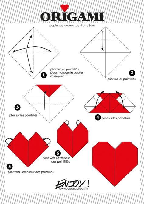 tuto origami facile tuto origami coeur facile