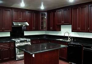 Black Granite Countertops With Dark Cabinets