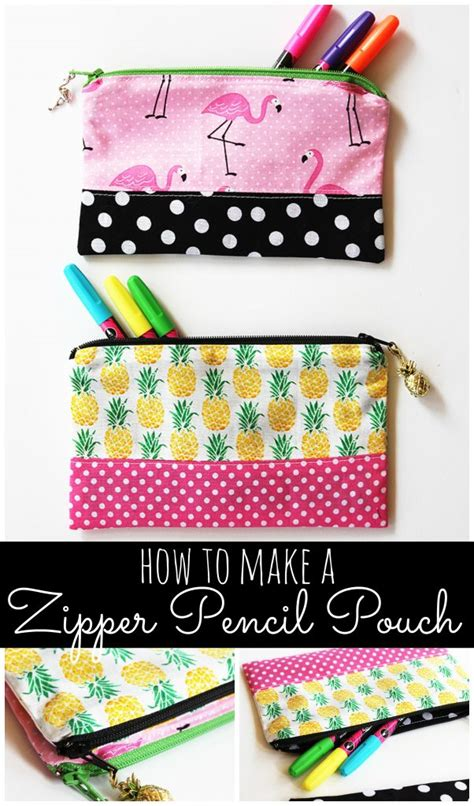 zipper pencil pouch diy sewing tutorial  positively splendid