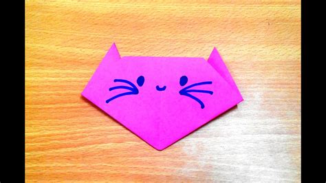 origami cat face step  step youtube