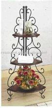 Wrought Iron Corner Etagere by Tuscan Country Corner Bakers Rack Home Decor