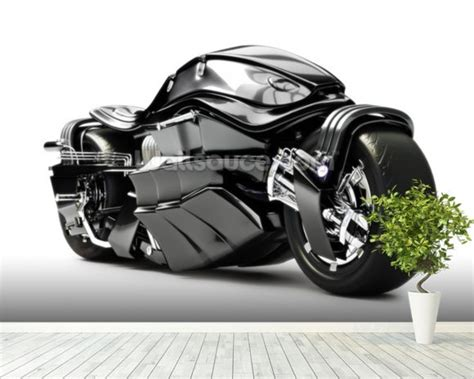 Futuristic Motorcycle Wallpaper Wall Mural