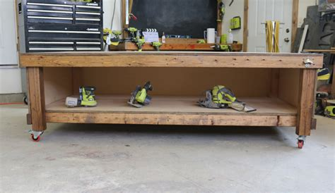 diy rolling workbench   workbench plans