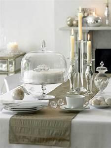 Table De Noel Blanche : d co no l blanche et originale pour une atmosph re magique ~ Carolinahurricanesstore.com Idées de Décoration