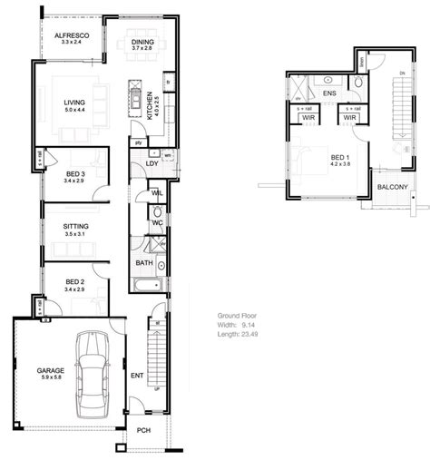 house plan for narrow lot lake house plans narrow lot brucall com