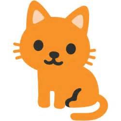 cat emoji file emoji u1f408 svg wikimedia commons