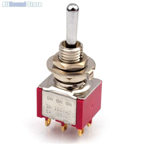 New Way Dpdt Mini Toggle Switch Round Bat
