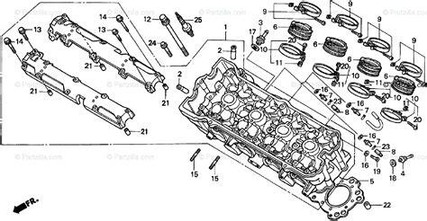 honda motorcycle 1998 oem parts diagram for cylinder head partzilla com