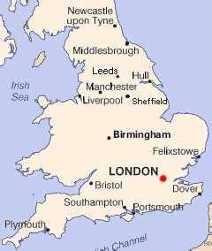 Carte Angleterre Grandes Villes by Les Grandes Villes Anglaises Angleterre Org Uk