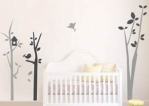 Autocollant Chambre Bébé : stickers arbre chambre b b avec oiseaux autocollants pour enfants baby bedroom baby ~ Melissatoandfro.com Idées de Décoration