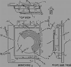 2452135 Radiator Group - Mini Hydraulic Excavator Caterpillar 305