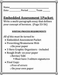 English Essays For Students Anti Hero Essay Titles Examples Science And Society Essay also Example Of A Proposal Essay Hero Essay Titles Essay For Friends Tragic Hero Paper Titles My Best  Is A Research Paper An Essay