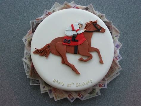 horse racing cakes images  pinterest racing