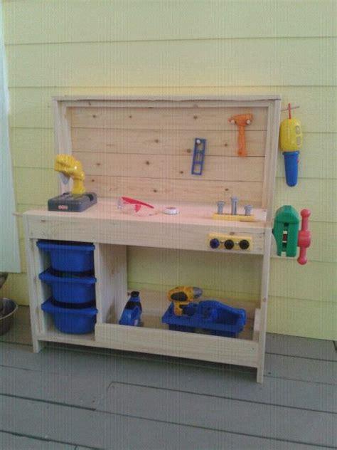 toddler work bench  diy kids wooden tool bench  kitchen table warehousemoldcom