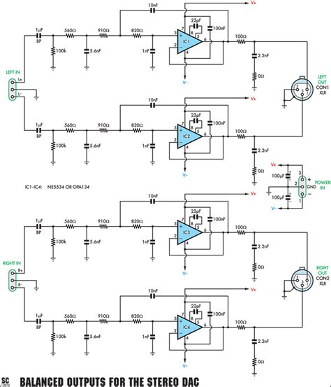 Stage Sound Wiring Diagram by A Balanced Output Board For The Stereo Dac