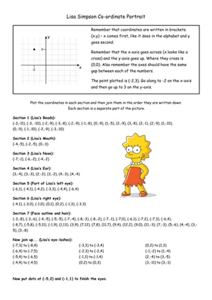simpsons coordinates  mrslackmaths teaching resources