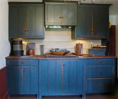primitive painted kitchen cabinets 1720s maine house traditional kitchen other metro 4416