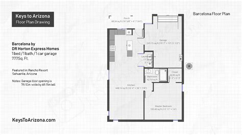 barcelona floorplan  dr horton express homes keys  arizona