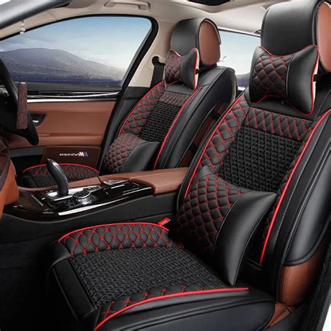 leather car seat cover  luxury leather car cushion seat