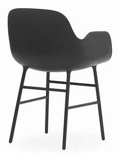 Fauteuil Pied Metal : fauteuil form pied m tal noir normann copenhagen ~ Teatrodelosmanantiales.com Idées de Décoration