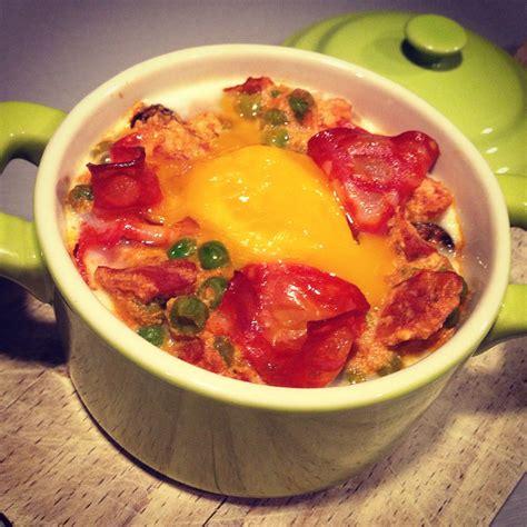 cuisine en cocotte oeuf cocotte chorizo tomate papa en cuisine