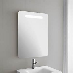 miroir salle de bain 60x80 cm avec eclairage led oslo With eclairage miroir salle de bain lapeyre