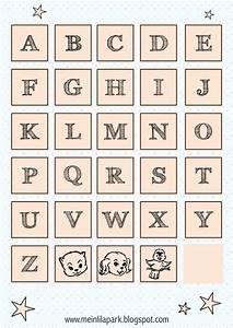 free printable alphabet letter tags ausdruckbare With picture letters free