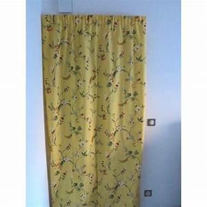 Rideaux Ruflette Pret Poser : rideaux ruflette fleurance jaune pour tringle porti re 134 ~ Teatrodelosmanantiales.com Idées de Décoration