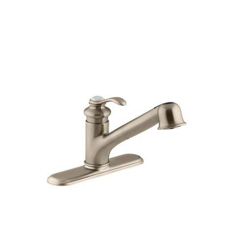 single handle pull out kitchen faucet kohler fairfax single handle pull out sprayer kitchen