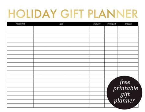 printable gift planner and christmas card list 187 jenny