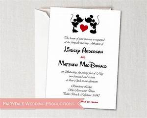 disney fairytale wedding mickey minnie by With disney wedding invitations clintons