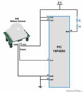 Pir Motion Sensor Interface With Pic18f4550