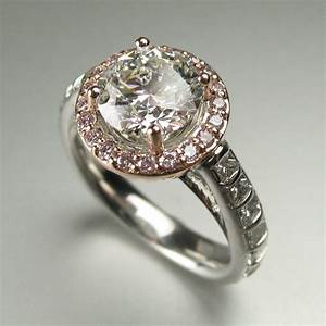 ring redesign before and after pink diamond halo With ideas for redesigning wedding rings