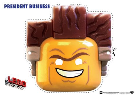 lego  character mask cut outs