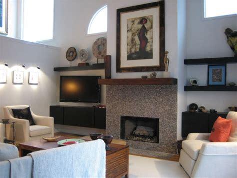 decoration cuisine moderne déco salon cheminée
