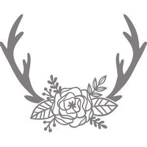 antler  flowers clipart silhouette   cliparts