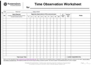 time  motion study template excel