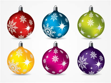 christmas balls ornaments vector clip art free free