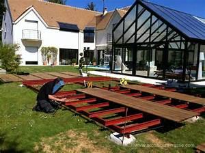 Terrasse Bois Sur Plot Beton : terrasse en bois moderne sur plot b ton et poutre ~ Premium-room.com Idées de Décoration