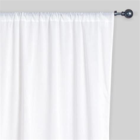 White Cotton Kitchen Curtains by White Cotton Voile Curtains Set Of 2 World Market