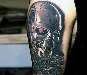 60 Terminator Tattoo Designs For Men - Manly Mechanical ...