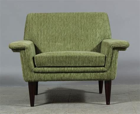 Mid Century Modern Scandinavian Green Armchair